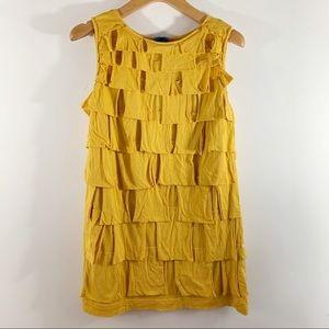 Shu Lami . Ruffled Sleeveless Dress . L